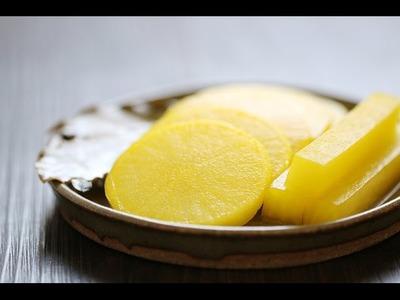 How to make Danmuji (Korean Yellow Pickled Radish)
