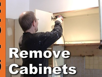 How To Remove Kitchen Cabinets - updated - GardenFork.TV