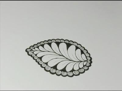 Nature Zentangles: Leaf #2