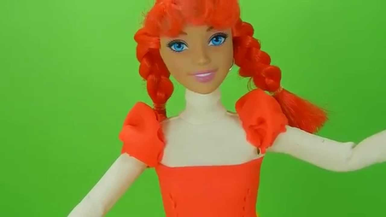 Play Doh craft. Dress up Anna from Frozen HD. Inspired playdohcraftntoys