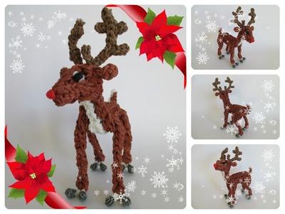 Rainbow Loom Rudolph reindeer Part 1.2 Loombicious