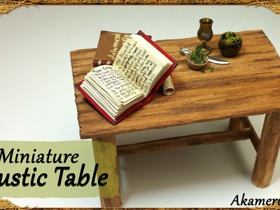 Rustic Miniature Table - Simple Wood Tutorial