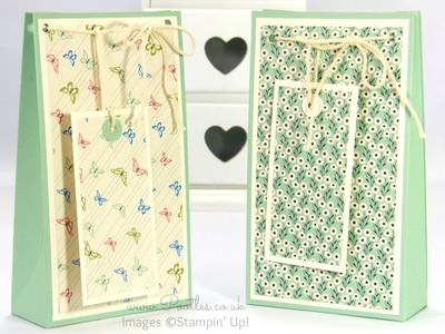 Stampin' Up! Pretty Petals Gift Bag And Tag Tutorial