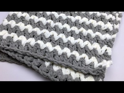 Trendy Baby Crochet Blanket Tutorial
