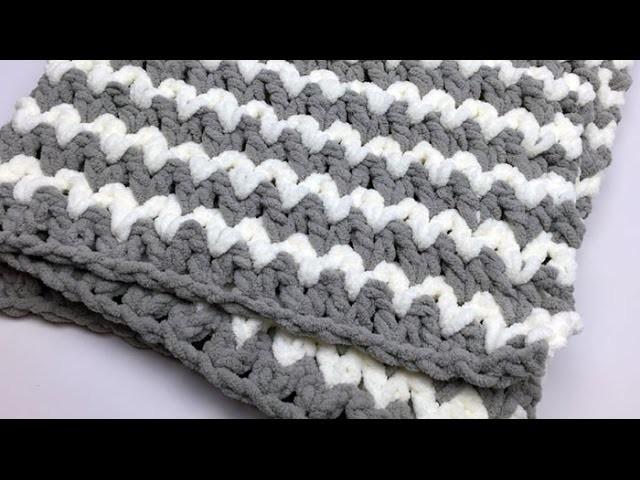Trendy Baby Crochet Blanket Tutorial