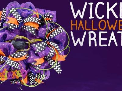 Wicked Halloween Wreath Tutorial