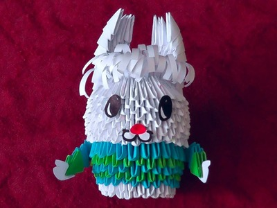 3D origami rabbit (hare, Easter bunny) master class tutorial