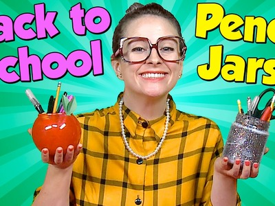 Apple & Glitter Pencil Jars - Teacher Gifts - Back to School | Cool School Crafts with Crafty Carol