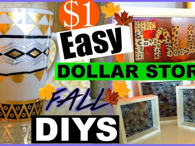 AUTUMN DOLLAR TREE COLLAB | EASY FALL DECOR DIYS | FALL SERIES 2015 Sensation Finds