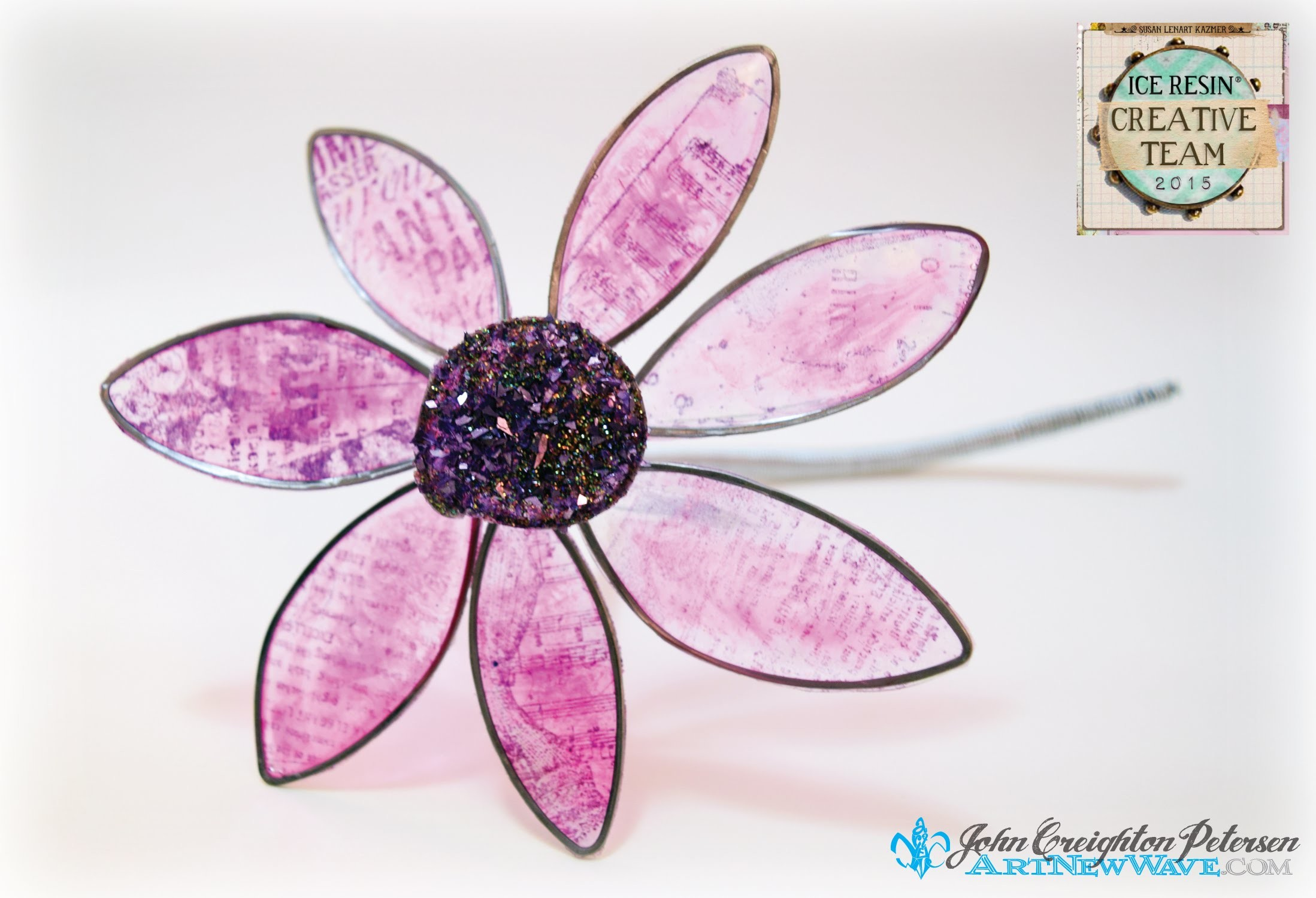 Back to Nature with ICE Resin® Tissue Paper Flowers
