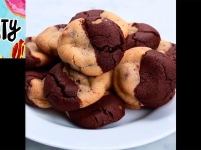 Brownie & Chocolate Chip Cookies (Brookies) | Tasty