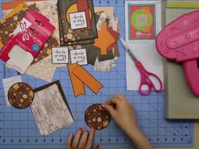 Card-making with Echo Park's The Story of Fall paper using 6x6 tutorial