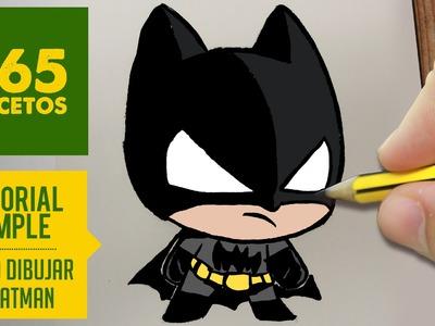 COMO DIBUJAR BATMAN KAWAII PASO A PASO - Kawaii facil - How to draw Batman