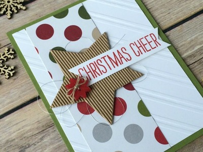 Country Christmas Card Stampin' UP! Cheer All Year