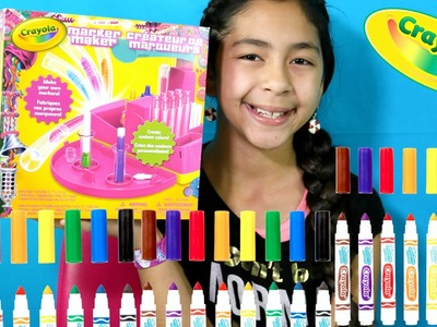 CRAYOLA MARKER MAKER DIY! Make Your Own Markers|B2cutecupcakes