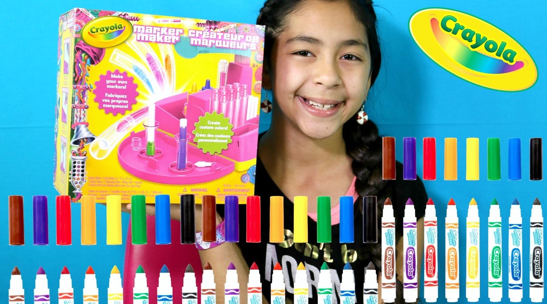 CRAYOLA MARKER MAKER DIY! Make Your Own Markers|B2cutecupcakes