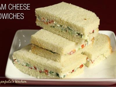 Cream Cheese Sandwiches   Cucumber Recipe by Manjula