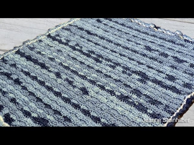 Crochet Waves Baby Afghan Tutorial