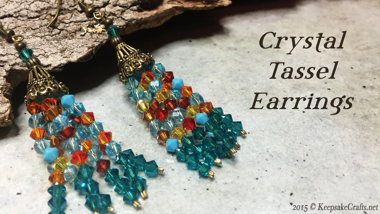 Crystal Tassel Earrings Tutorial