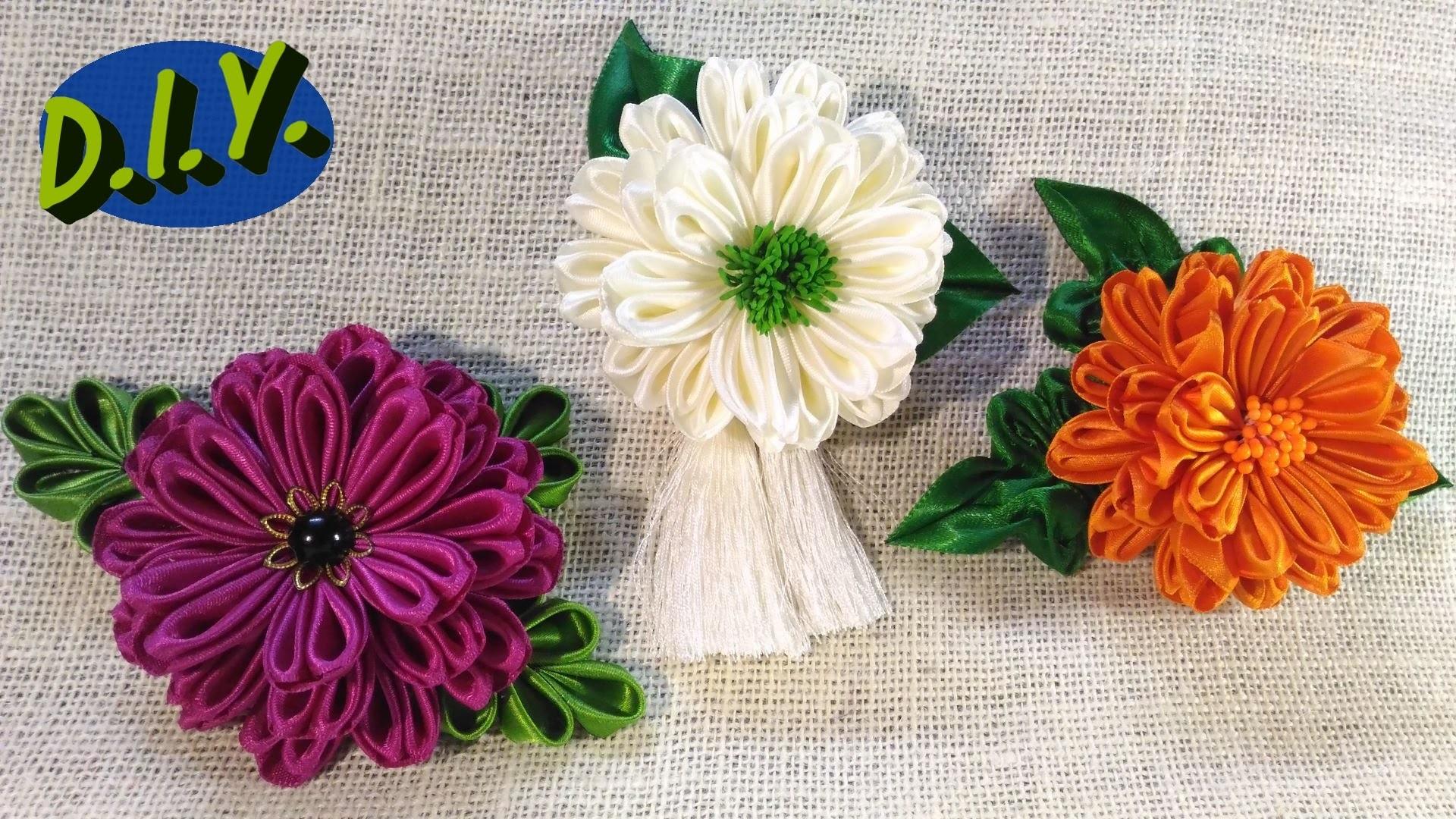 ❀ ❃ ❀ D.I.Y. New Kanzashi Flower ❀ ❃ ❀