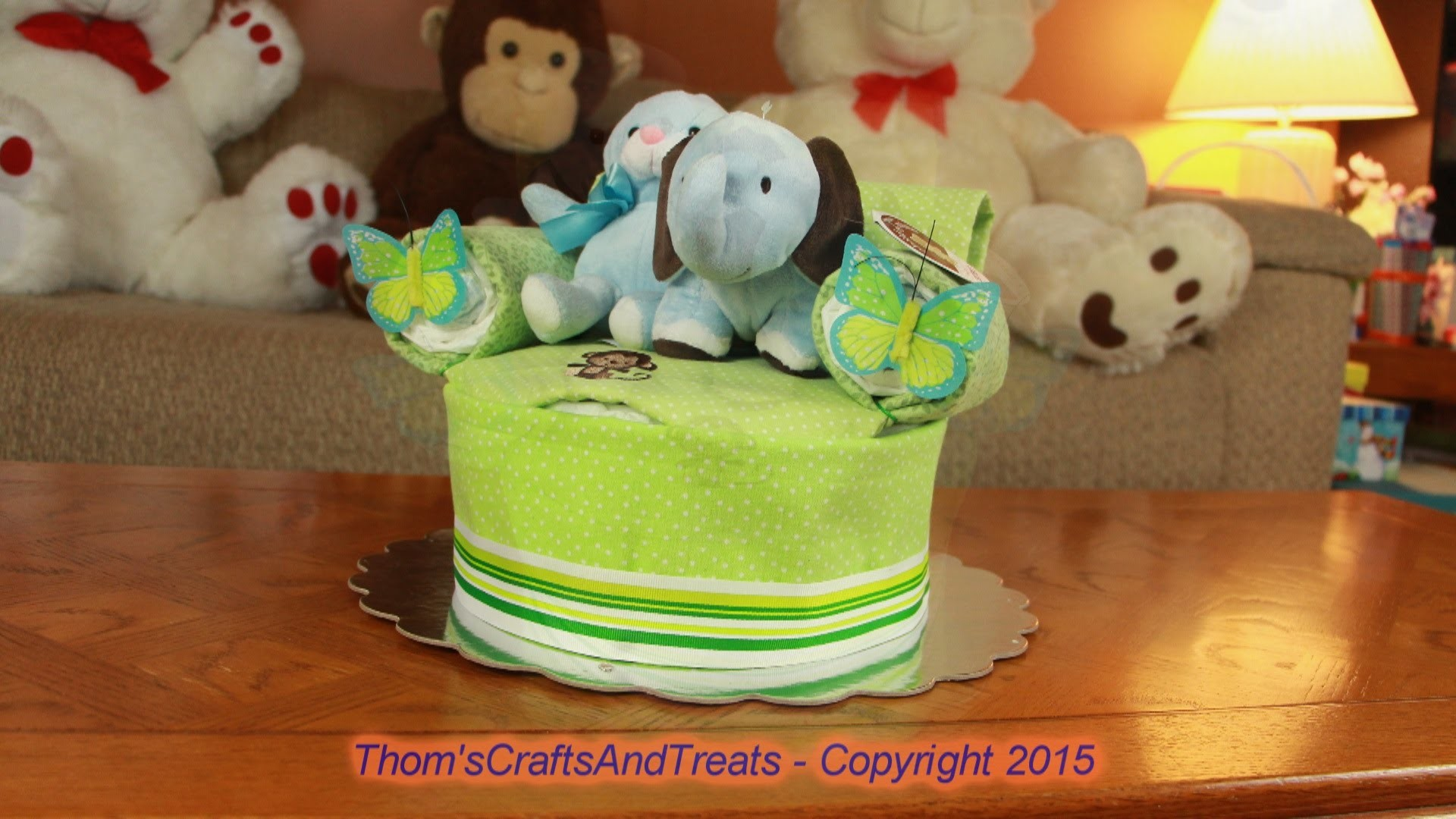Diaper Cake Love Seat Chair