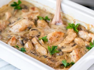 Dinner: Chicken and Mushroom Casserole Recipe - Natashas Kitchen