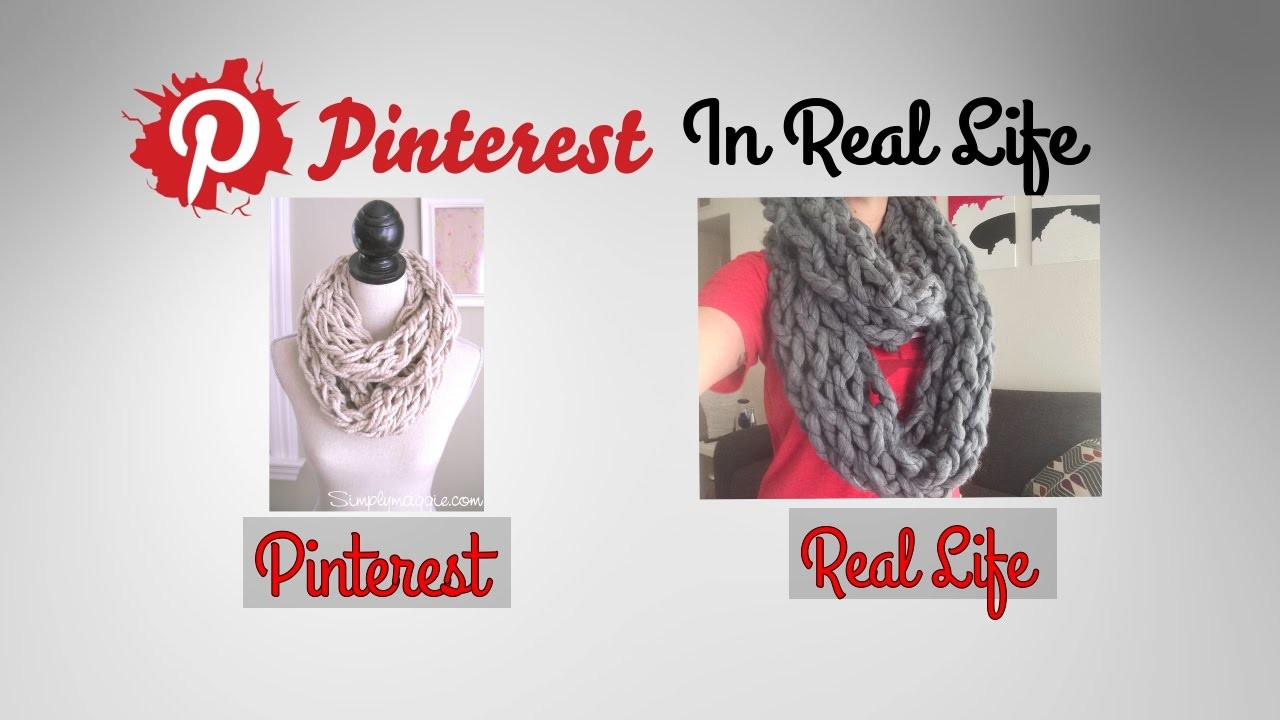 DIY Arm Knit Infinity Scarf- Pinterest in Real Life