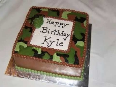 DIY Camo cake decorating ideas