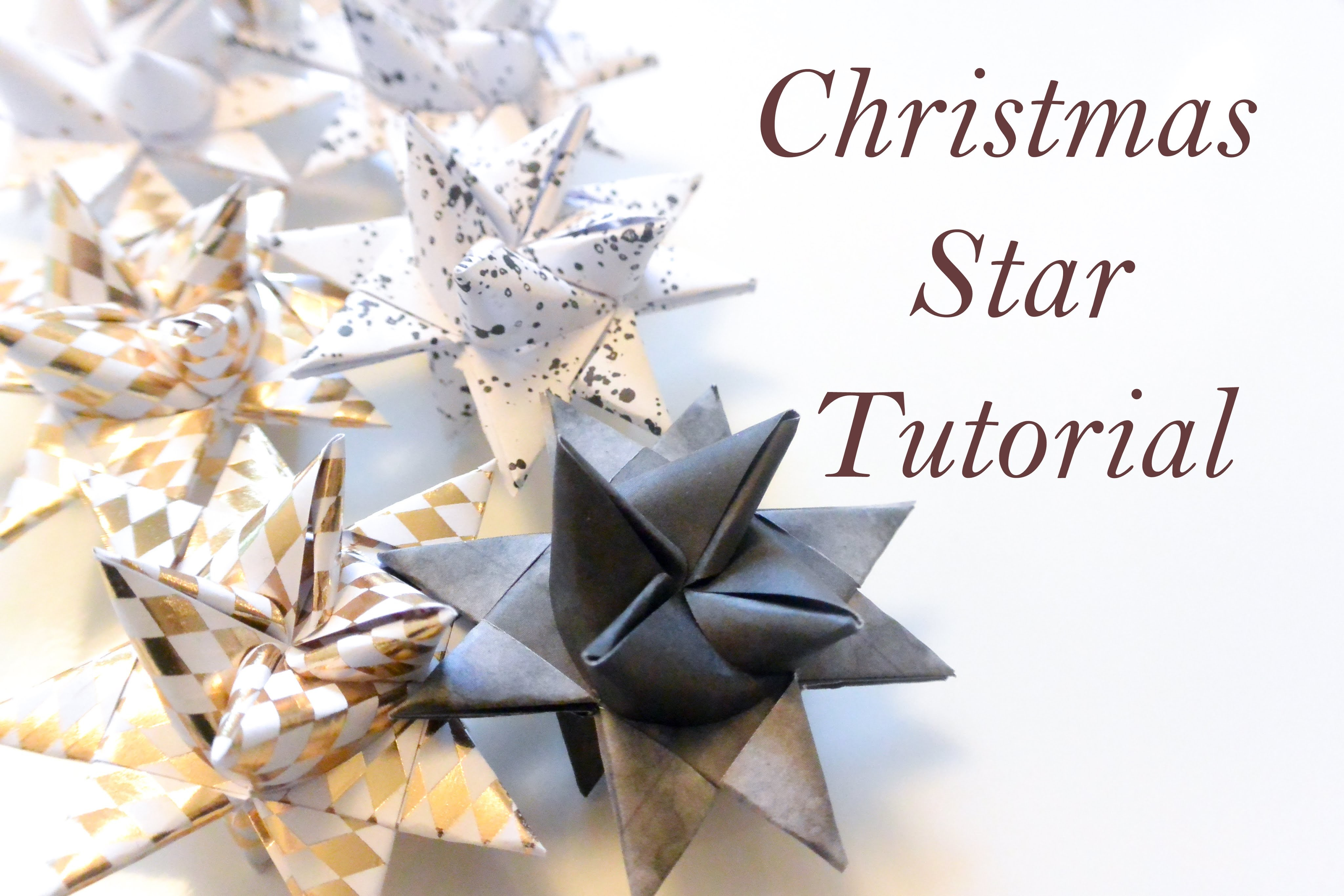 DIY Christmas Star. Paper folding (Moravian, Froebel star) - Christmas decor or ornament