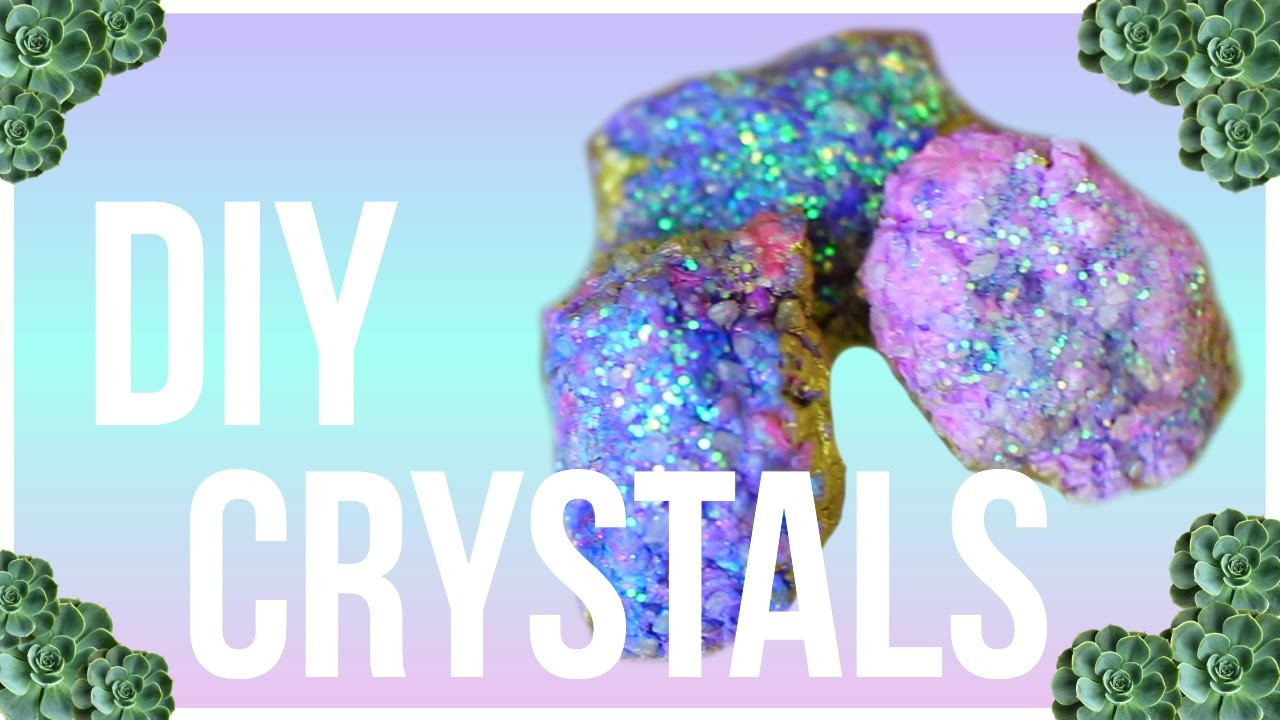 DIY Crystals | Urban Outfitters and Tumblr Inspired Room Decor