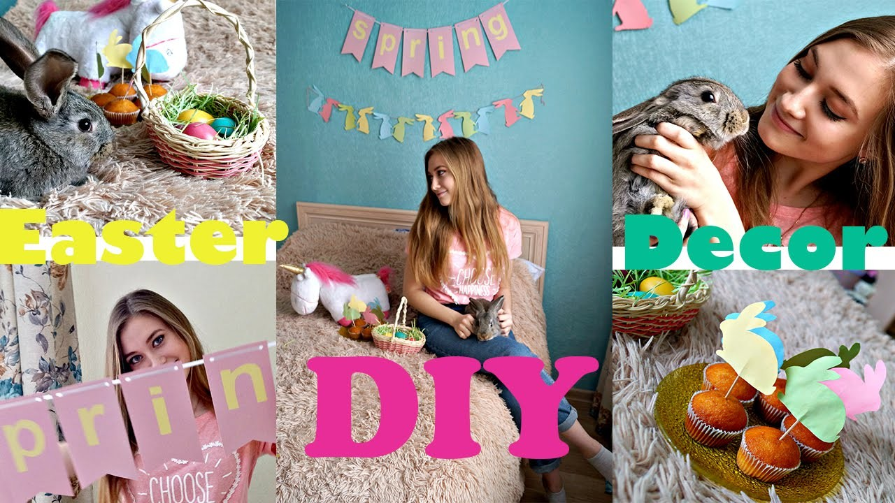 DIY Easter & Spring Room Decor, Easter Eggs + Snacks!
