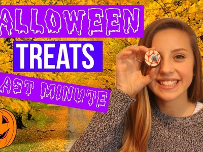 DIY last minute halloween treats | Oliviagrace