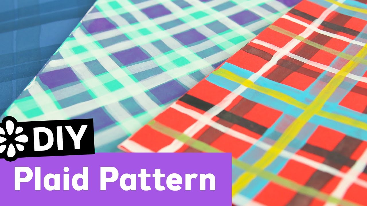 DIY Plaid Pattern