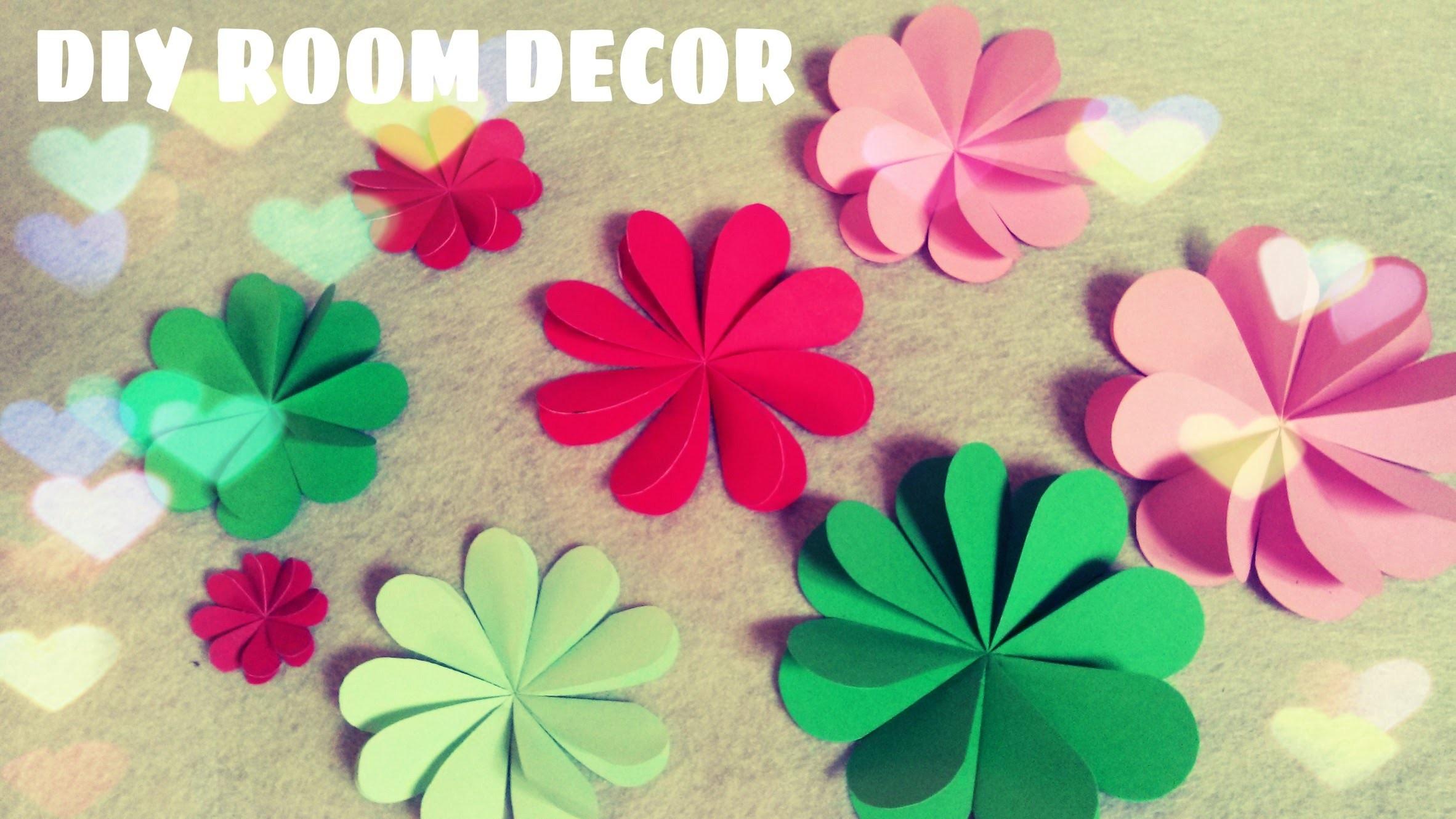 DIY Room Decor - Paper Flowers Tutorial (Easy)