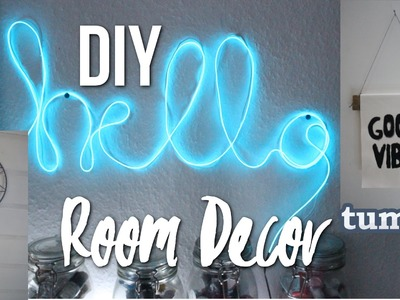 DIY ROOM DECOR - tumblr & Urban Outfitters inspired!