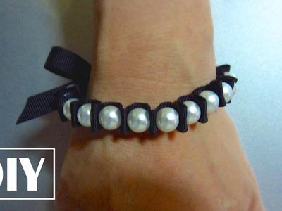 DIY Stretchy Pearl Bracelet