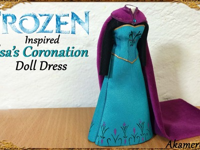 Elsa (Frozen) inspired Doll Dress - Winter Fabric Tutorial