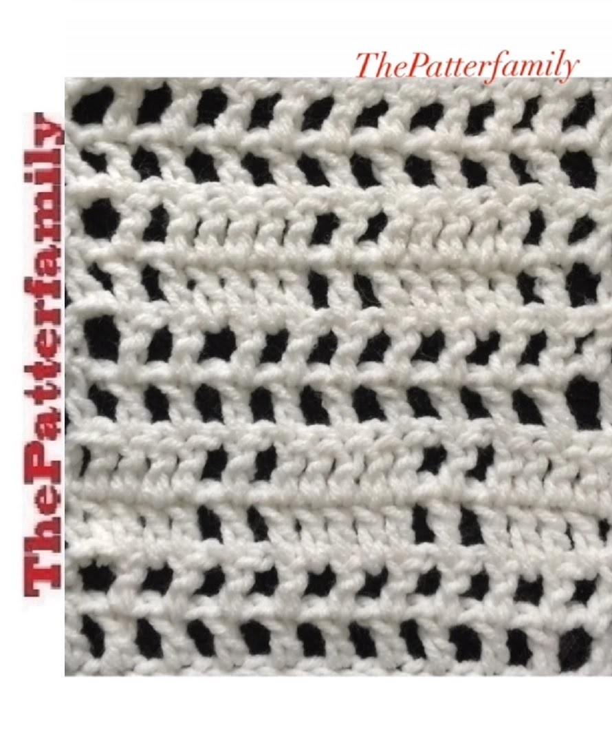 How to Crochet Stitch Pattern #12│by ThePatterfamily