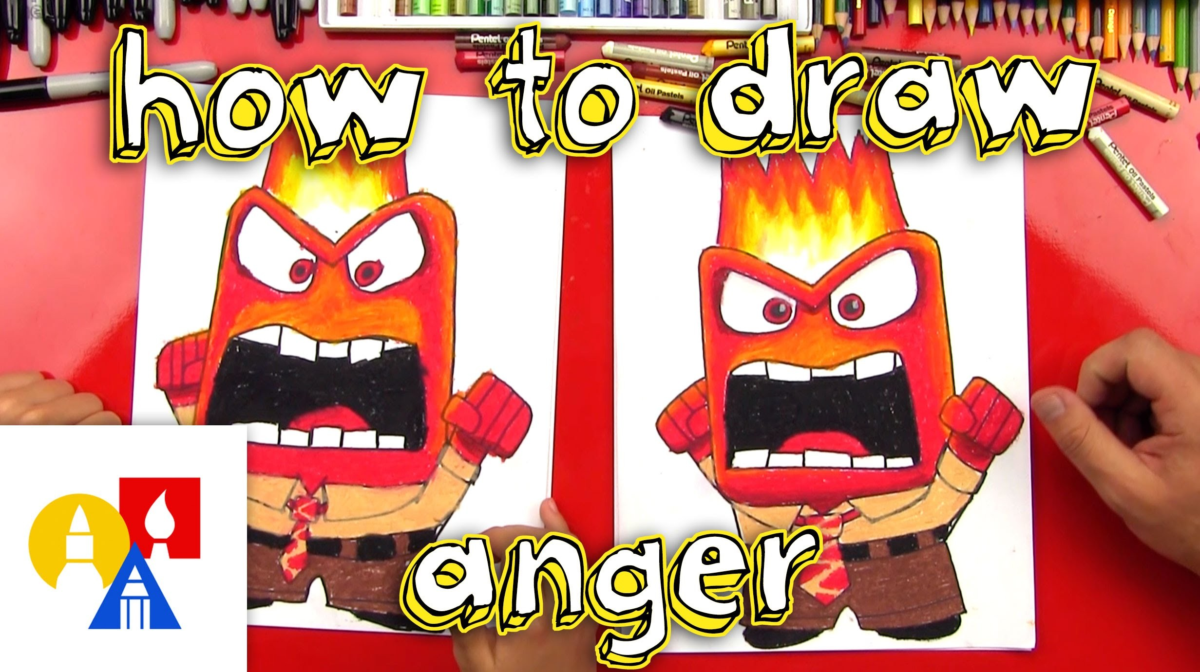 How To Draw Anger From Inside Out
