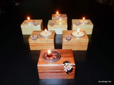 How to Make a Candle and Match Holder