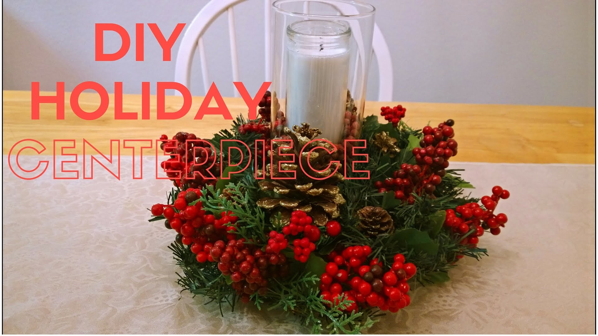 How to make a centerpiece for Christmas | DIY Holiday Decor
