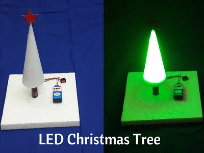 How to Make a Simple LED Christmas Tree at Home - DIY