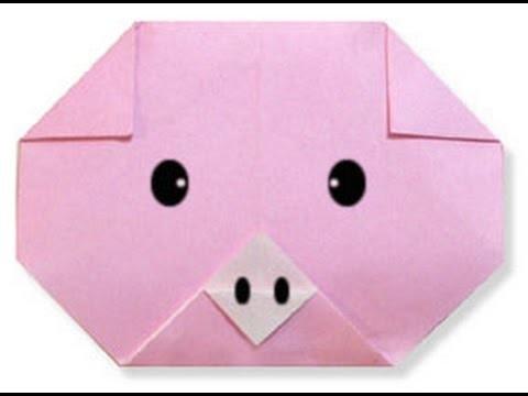 Как сделать мордочку свинки из бумаги