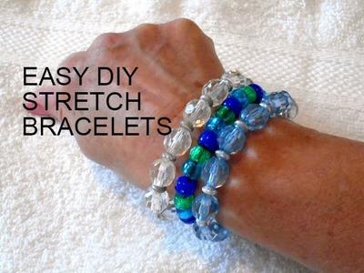 JEWELRY MAKING: Easy stretch bracelets for kids to make