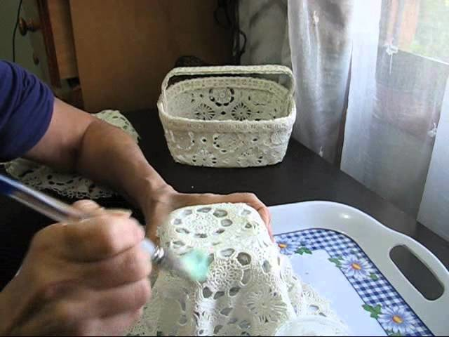 Making a Lace Basket Part One