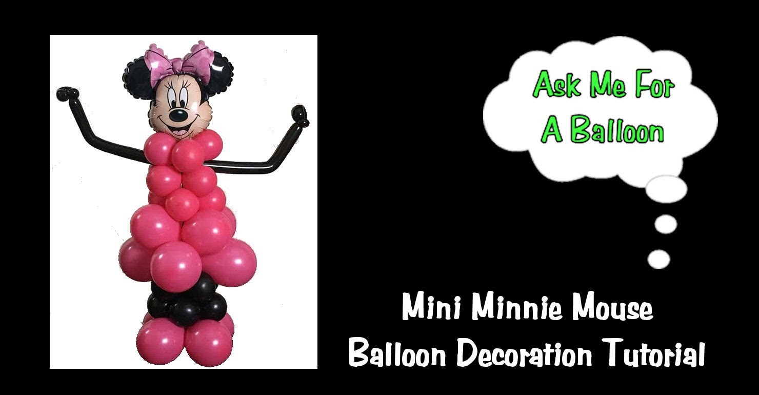 Minnie Mouse Balloon Decoration Tutorial