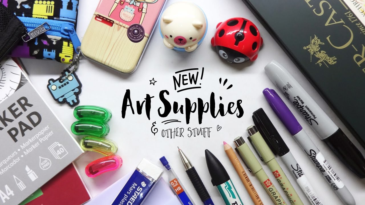 New Art Supplies and Other Stuff! [Art Supplies Haul]
