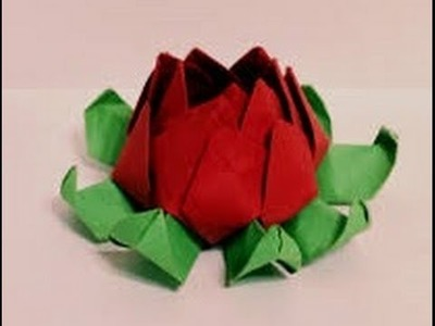 Origami flower instructions LOTUS - How to make origami flowers