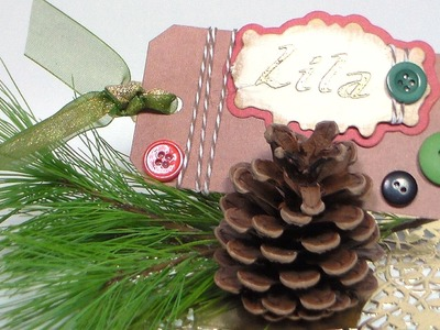 Pinecone Place-cards {Nature Inspired Thanksgiving Decor}