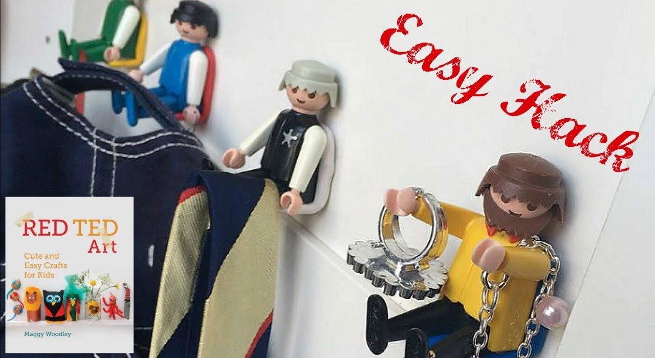 Playmobil Hooks - Home Hack with Sugru (sponsored)